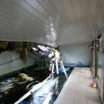 Bezwijken dakconstuctie zwembad
